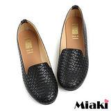 (現貨+預購)【Miaki】MIT 經典不敗編織造型平底包鞋懶人鞋 (黑色)