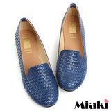 (現貨+預購)【Miaki】MIT 經典不敗編織造型平底包鞋懶人鞋 (藍色)