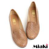 (現貨+預購)【Miaki】MIT 經典不敗編織造型平底包鞋懶人鞋 (棕色)