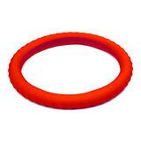 3D 矽膠方向盤套 - 紅