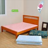 《DFhouse》黛爾夢5尺雙人緹花布透氣床墊(三色)