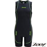 【ZOOT】菁英級 後拉式肌能連身鐵人衣(男)(黑翠綠) Z1406050 路跑 三鐵 馬拉松