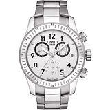 TISSOT T-SPORT V8 霸氣三眼計時腕錶-銀 T0394171103700