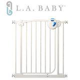 ( L.A. Baby 美國加州貝比) 雙向安全自動上鎖鐵門欄/寵物門欄/幼兒門欄(三道安全鎖裝置)