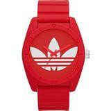 adidas 三葉草運動時尚腕錶-紅 ADH6168