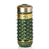 乾唐軒活瓷吉星乾坤隨身杯( 大 / 雙層 / 鎏金 +綠 / 施華洛世奇元素 )