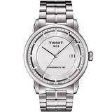 TISSOT T-Classic Luxury 簡約時尚機械腕錶(銀/41mm) T0864071103100