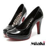 (現貨+預購)【Miaki】 MIT 都會奢華皮質細跟包鞋高跟鞋 (黑色)