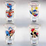 Disney經典米奇卡通玻璃冷水杯組-四入裝