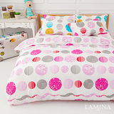 LAMINA 泡泡球-粉 單人三件式床包被套組