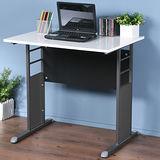 《Homelike》巧思辦公桌 炫灰系列-白色亮面烤漆80cm