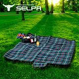 【韓國SELPA】戶外防水處理絨毛野餐墊/寶寶爬行墊/地墊/地布(中型)