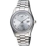 ENICAR 英納格 自動系列恆動晶鑽機械腕錶-銀 3169-50-38aI