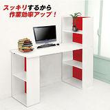 日系艷陽雙向機能型4+2格書櫃型書桌