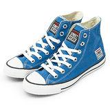 男 VISION STREET WEAR 經典帆布鞋 藍 V22010