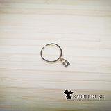 【Rabbit Duke】經典歐美風格 個性簡單設計鎖頭墬飾戒指
