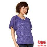BOBSON 女款透光燒花布上衣(紫24092-54)