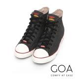 GOA 男款牛仔單寧高筒帆布鞋【含內增高鞋墊】-黑色