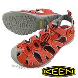【美國 KEEN 】女新款 Whisper 專業護趾涼鞋/水陸兩用鞋.沙灘鞋.安全鞋 灰/橘紅 1010960