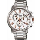 【CASIO】商務日曆三眼鋼帶腕錶(BEM-506BD-7A)