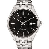 CITIZEN Eco-Drive 時尚大三針都會腕錶-黑 BM7250-56E