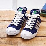 中國強 MIT 百搭中筒休閒帆布鞋CH88(藍銀)女鞋