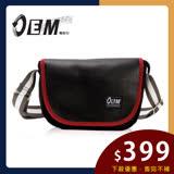 【OEM】製包工藝革命低調迷人時尚半月型休閒包 改版驚豔灰白拼接織帶(紅T514-61)