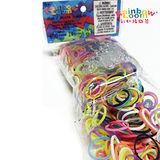 【BabyTiger虎兒寶】Rainbow Loom 彩虹編織器 彩虹圈圈 600條 補充包 -彩色混色