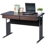 《Homelike》巧思辦公桌 亮白系列-胡桃加厚桌面120cm(附二抽屜)