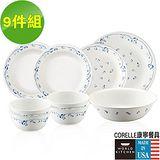 CORELLE 康寧 古典藍9件式餐盤組 (907)