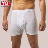 YG新純棉羅紋平口褲(M~XL)