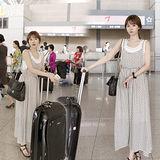 《韓國K.W.》韓國街頭Look.假兩件背心洋裝