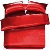 RODERLY 摩登紅 絲緞 雙人四件式被套床包組