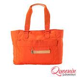 DF Queenin R兔 - 日系設計輕質感手提肩背2用包-愛瑪橘