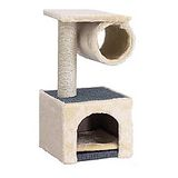 短絨毛材質涵洞貓屋貓跳台◎R213附墊-高60cm (米色)
