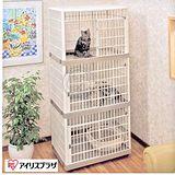 日本IRIS《精緻日系室內三層貓籠》粉紅│黃色 IR-813