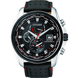 CITIZEN Eco-Drive 競速賽車電波計時腕錶-黑 AT9037-05E