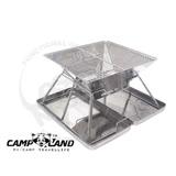 【CAMP-LAND】日本焚火台(M)附收納袋 烤肉架 碳烤架 荷蘭鍋架(有不鏽鋼收納盒款) 【MAGIC】RV-ST210-B