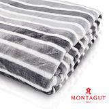 MONTAGUT-超纖細法蘭絨毯(條紋-灰)