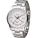 MIDO 美度 Multifort GMT世界時區鎖牙錶冠機械腕錶 M0059291103100