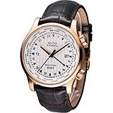MIDO 美度 Multifort GMT世界時區鎖牙錶冠機械腕錶 M0059293603100