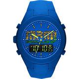 Marc by Marc Jacobs X-Up 雙顯時計腕錶-藍x金 MBM5531