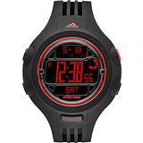 adidas adipower 精英休閒冷光電子腕錶-黑x紅 ADP3131