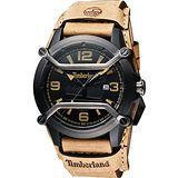Timberland Maplewood 復古時尚腕錶-黑x卡其 TBL.13867JPBU/02