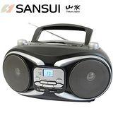 福利品-SANSUI山水 CD/MP3/USB/SD/AUX手提式音響 SB-88N