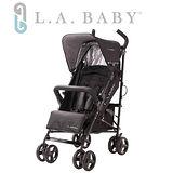 【嬰兒推車L.A. Baby 美國加州貝比】時尚輕便嬰兒手推車(黑色)