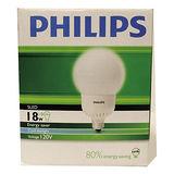 飛利浦 電子式球型省電燈泡-白光(18W)