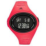 adidas 橢圓百搭數位電子腕錶-紅
