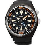 SEIKO Kinetic 怒海征服者GMT潛水200米腕錶-黑 5M85-0AB0O