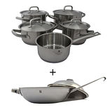 驚喜合購【WMF】 Gourmet Plus系列五件式鍋具組+【WMF】 Chef\